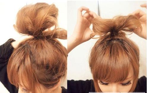 蝴蝶结发型扎法图解 当一回卖萌的lady gaga【图文图片