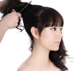 女生长发朋克发型设计 diy四步搞定帅气发型