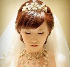唯美韩式新娘盘发发型图片 高贵典雅彰显迷人魅力