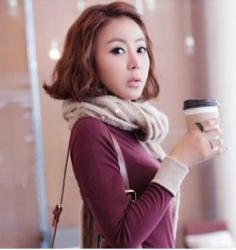 韩式荷叶头发型设计 让你也做个气质型冬美人