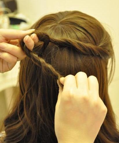 中长发发型扎法图解简单几步打造成a发型公主直发适合减什么发型图片