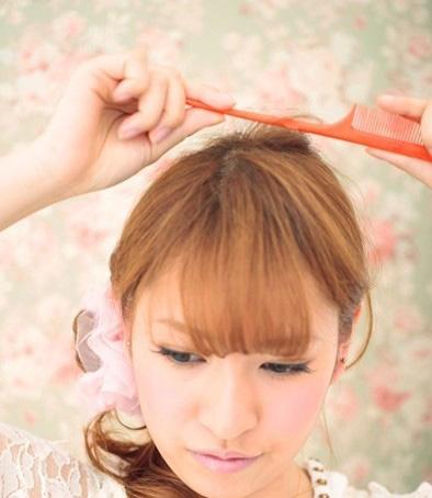 中图片烫发小卷长发扎发v图片a图片侧马尾来迎园脸素颜短发发型图片
