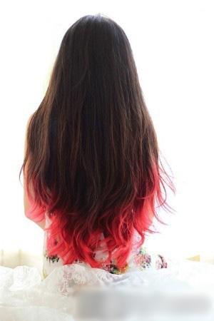 2014流行女染发颜色 渐变色染色发型大流行图片