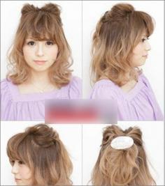 2014最新发型 可爱日式蝴蝶结发型