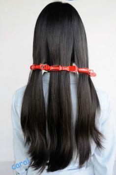 自然大波浪卷发教程 不用担心对头发造成伤害