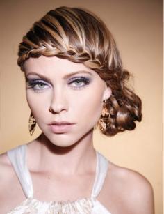 2014时尚编发发型图片 展现轻熟女的独特魅力