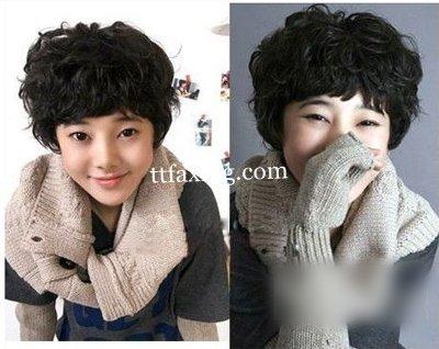 韩式短发烫发发型图片分享