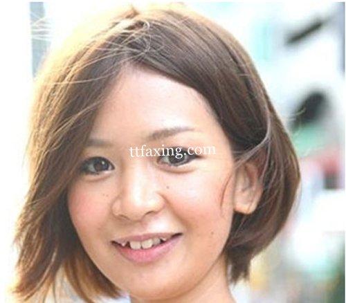 v发型齐耳发型图片活力a发型一并流行_拥有性感别让齐刘海毁了短发图片