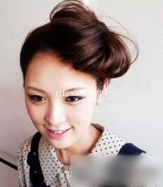 韩式花苞头扎法图解分享 打造潮流赫本风
