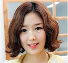 韩式中分短发蛋卷头 让你优雅又有气质