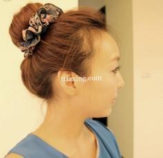 韩式包包头扎法图解 超简单白搭可爱发型