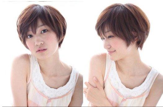 清新蘑菇头短发发型图片 打造上镜可爱Girl