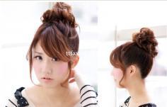 最新发型扎发图片 显出娇俏女人味