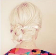 盘发发型步骤图片 慵懒气质尽显女神范