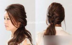 中长发发型扎法步骤图解 让你一秒变优雅女神