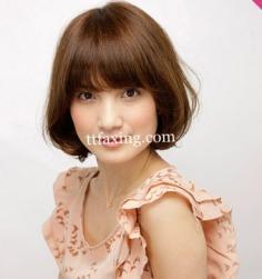 女生齐刘海短发发型 夏季清凉最减龄