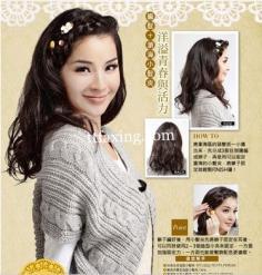 简单盘发发型图片 《女人我最大》林叶亭教你怎么做发型