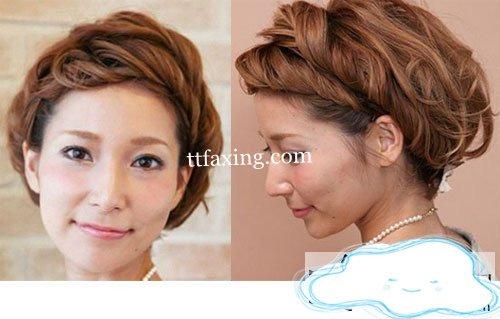 分享短发刘海编发教程图解 打造时尚日式甜美发型