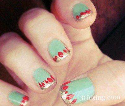 可爱短指甲美甲图案赏析 美甲也要可爱小清新
