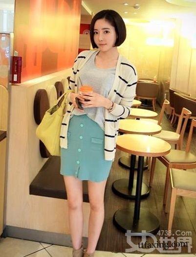 小清新服装搭配穿出甜美风格 韩国氧气美女亲自示范