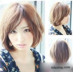 最新短发波波头发型图片分享 打造时尚个性发型