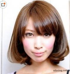 减龄短发发型图片 减龄瘦脸赚人气