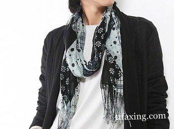 简单易学的男士丝巾系法图解 让你更加有型