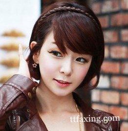 齐刘海长发发型扎法 百变造型打造甜蜜可爱时尚风