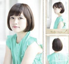 短发内扣梨花头发型图片 修饰脸型让你青春无敌