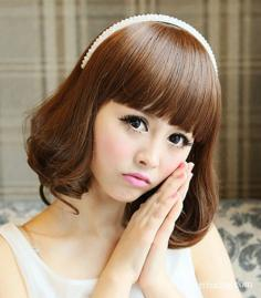 齐刘海短发梨花头图片推荐 超瘦脸发型值得一试