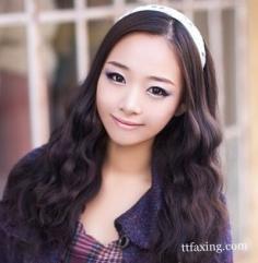 韩式蛋卷头发型图片 特别而时尚