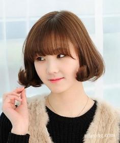 韩式可爱齐刘海图片欣赏 可爱女生的最爱