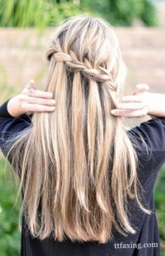 2014韩国新式花样仙女发型 教你中长发简单编发