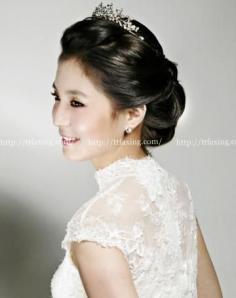 韩式新娘盘发推荐 清爽盘发给新娘添上一道高雅色彩