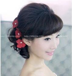 最流行的中式新娘盘发 做个典雅温婉女人