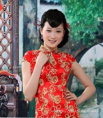 2014新娘旗袍发型图片 高贵时尚