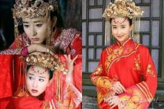 明星古装新娘造型大PK 演绎不一样风格的美艳新娘