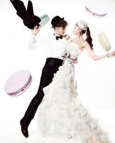 浪漫小甜点个性婚纱照 拍出甜美性时尚婚纱照