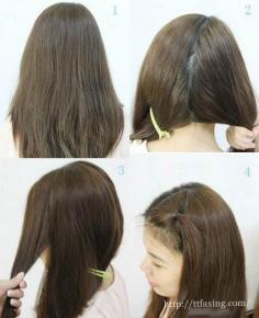韩式新娘盘发图解 简单几步打造甜美清新鱼骨辫盘发