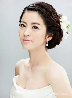韩式婚纱照新娘发型 绽放属于你的美