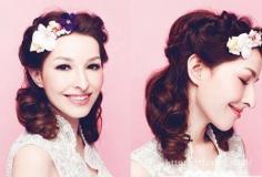 2015新娘发型图片 巧用花朵打造时尚新娘