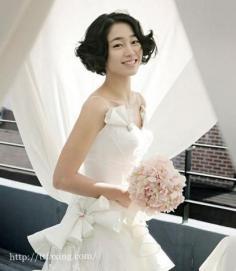 短发新娘造型的完美攻略 打造出可爱的靓丽新娘