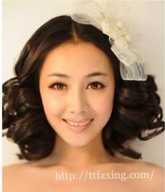 3款最新短发新娘造型 结婚季让你短发也最出众