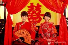 欣赏中式婚纱照图片 传统与时尚的完美结合