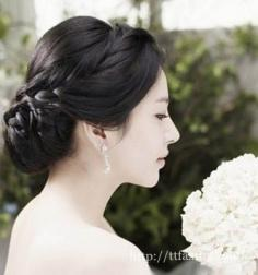 韩式婚纱照新娘发型集 助你打造完美韩式新娘造型