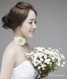 典雅韩式新娘盘发图片赏析 感受极致浪漫的盘发魅力