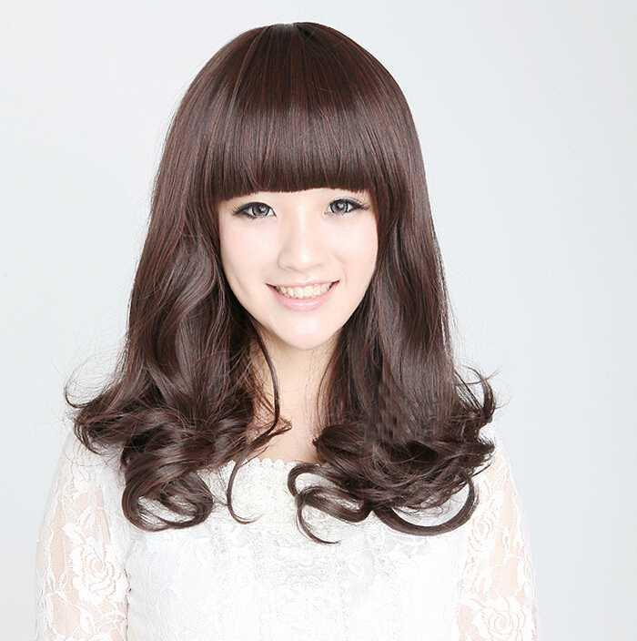 韩国个性短卷发发型图片