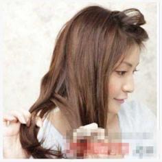 韩式甜美浪漫公主头扎发教程