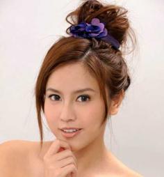 超减龄韩式丸子头发型图片