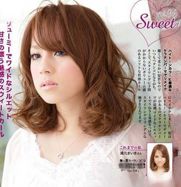 可爱甜美韩式蓬松短卷发发型